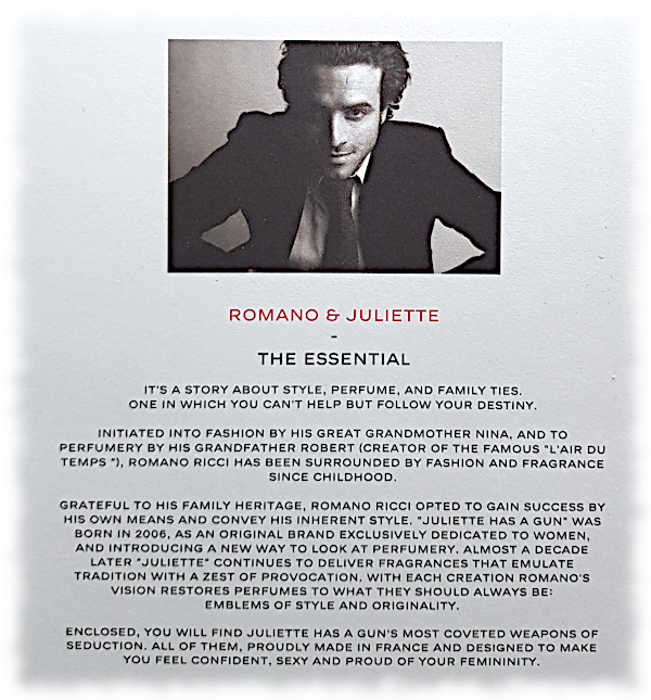 Back of Brochure with Information about Romano Ricci