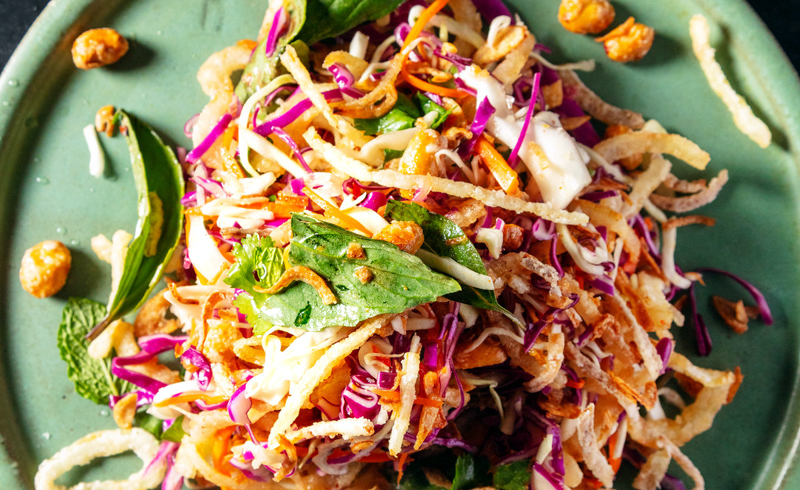 Crunchy Cabbage Salad with Peanuts and Fish Sauce