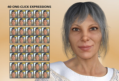 A Lady - Expressions for Genesis 8 Female and Alexandra 8