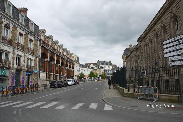 Calles de Vannes, edificio de la Prefectura.