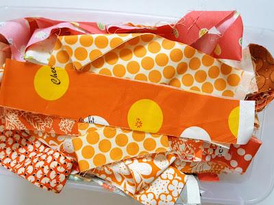 orange scrap bin