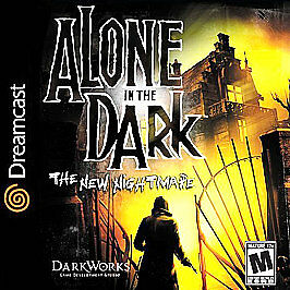Alone In The Dark: The New Nightmare Sega Dreamcast horror game cover art