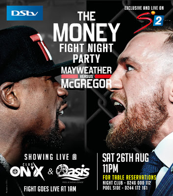 Dstv Host The Official Money Fight Party On August 26th At Club Onyx & Oasis Lounge Dstv and Supers