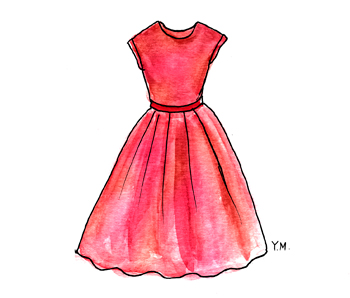 dress by Yukié Matsushita