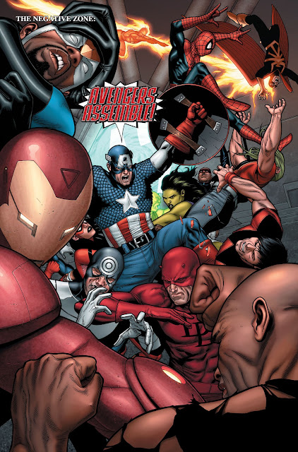 Captain America saying Avengers Assemble in Marvel's Civil War Issue #7 at Negative Zone