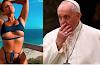 """El Papa Francisco da """"like"""" a foto de una modelo en traje de baño"""