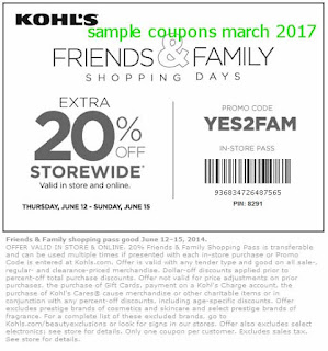 Kohls coupons march