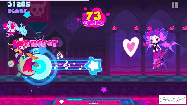 Screenshot Gameplay Muse Dash