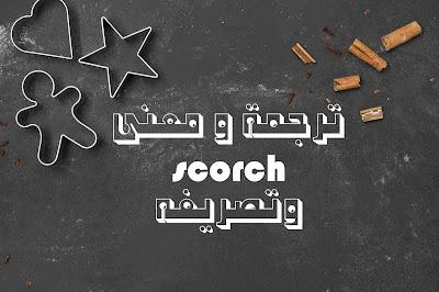 ترجمة و معنى scorch وتصريفه