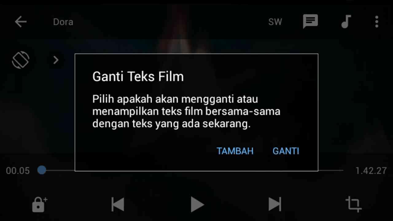 Cara Menambahkan Subtitle Film di MX Player