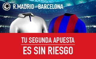 sportium Real Madrid vs Barcelona segunda apuesta sin riesgo 23 abril