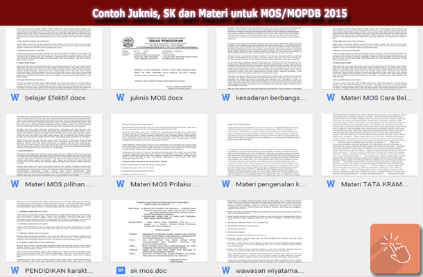 Contoh Juknis, SK dan Materi Masa Orientasi Siswa (MOS/MOPDB) 2015