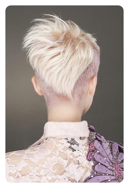 krótkie włosy tyłem