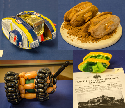 Some of the entries into the Tank Make and Bake competition