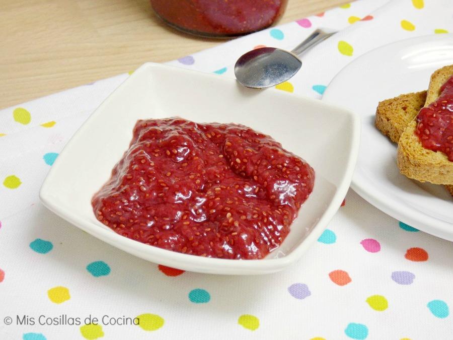Mermelada de fresas y semillas de chía - Mis cosillas de Cocina