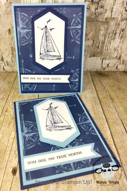 Card, Sailing Home, Come Sail Away Designer Series Paper, Clean & Simple