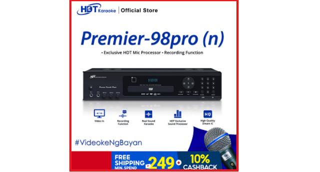 HDT P-98Pro (n) DVD Karaoke Player