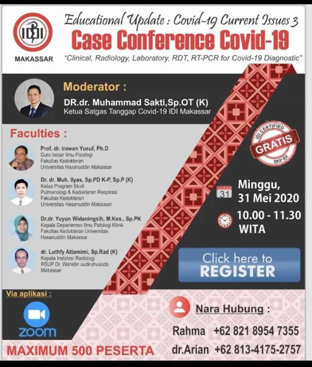 """Free SKP IDI Webinar : """"Case Conference Covid-19"""""""