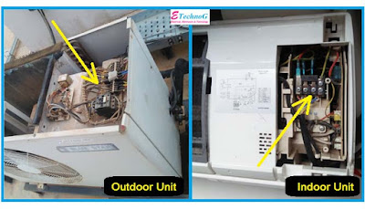 Air conditioner indoor outdoor