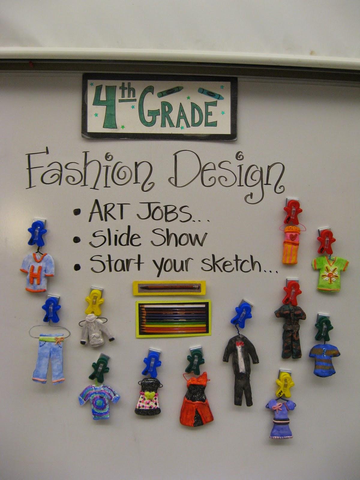 Jamestown Elementary Art Blog 4th Grade Fashion Design