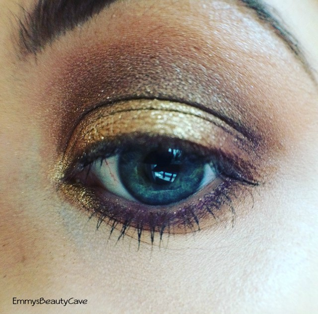 Gold and Purple Smokey Eye
