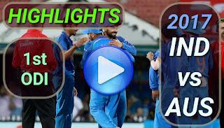 india-vs-australia-1st-odi-2017-highlights