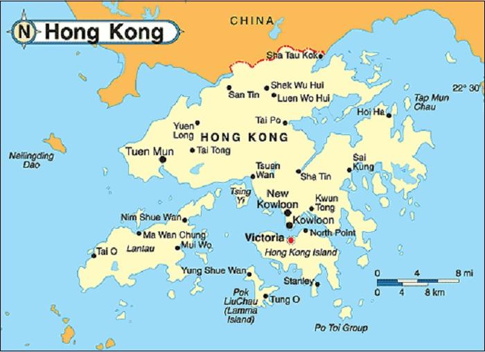 Peta Negara Hongkong
