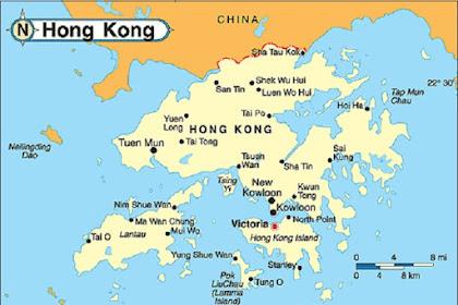 Peta Negara Hongkong Lengkap Gambar HD Ukuran Besar