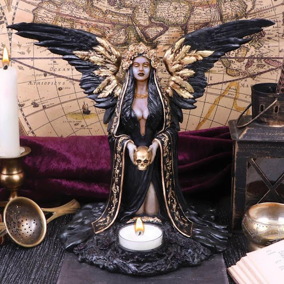 Teresina Dark Reaper Angel Figura Dark Angel Ornament Statue Christmas