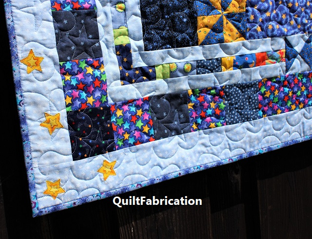 The Moon and the Stars quilting by QuiltFabrication