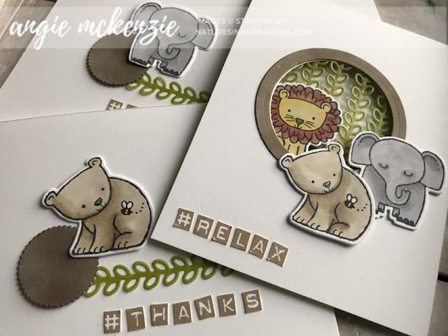 Relax a Little Wild | #TGIFC214 | Labeler Alphabet, A Little Wild by Stampin' Up!® | Nature's INKspirations by Angie McKenzie
