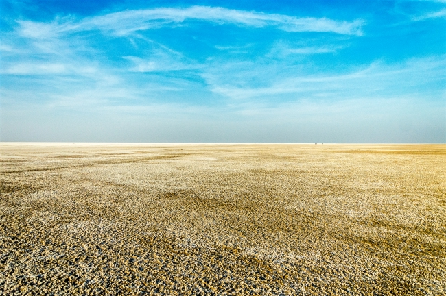 The Rann of Kutch also known as white desert at Dholavira