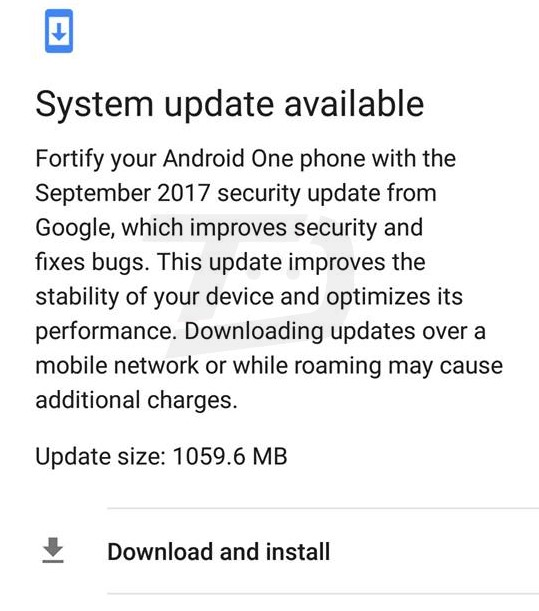 September security patch rolling out to Xiaomi Mi A1