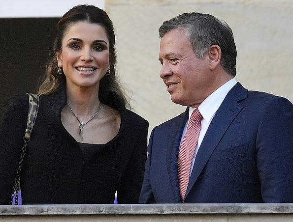 Queen Rania and King Abdullah attended the ceremony of International Westphalian Peace Prize 2016 at the City Hall in Münster, Germany