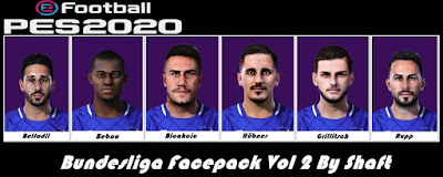 PES 2020 Bundesliga Facepack vol 2 by Shaft