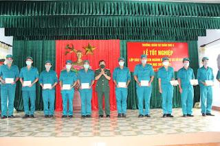 Đắk Lắk tổ chức lễ tốt nghiệp lớp đào tạo trung cấp chuyên ngành quân sự cơ sở khóa 9