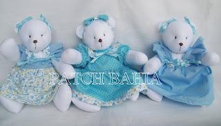 Ursinha Porta de Maternidade e Ursinhas para Nichos