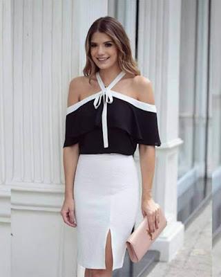 outfits casuales de moda con cuello halter