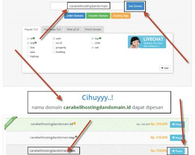 cara pesan domain indonesia