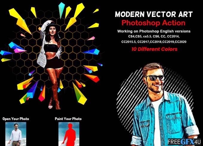 Modern Vector Art Photoshop Action