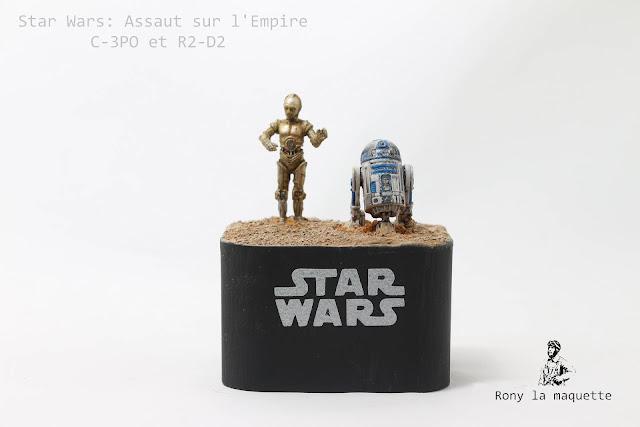 R2-D2 et C-3PO Starwars: Impérial assault