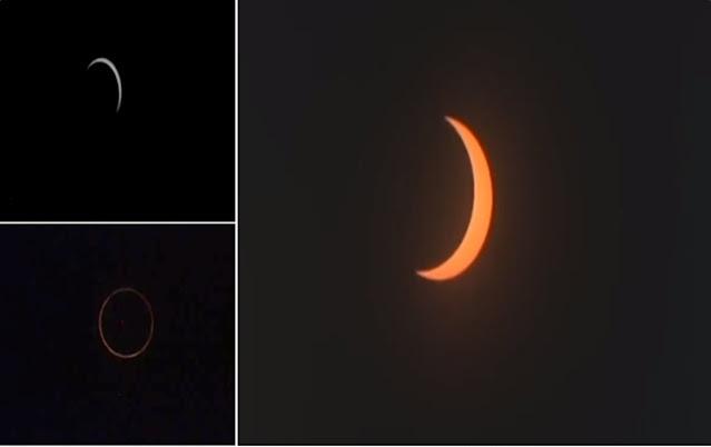 भारत के कई हिस्सों में दिखा सूर्य ग्रहण का दुर्लभ नजारा