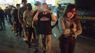 Hiburan Malam Hotel Carabia Digerebek Polisi, 48 Pengunjung Diamankan