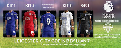 Kits Leicester City Puma 2016-2017 Pes 2013 By Luan17