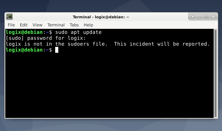 Fix 'Username Is Not In The Sudoers File  This Incident Will