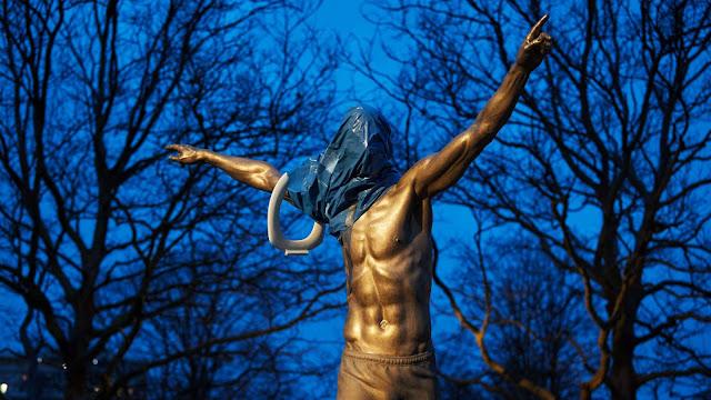 Patung Zlatan Ibrahimovic di kota Malmo Dirusak