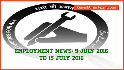 Employment News  July 2016