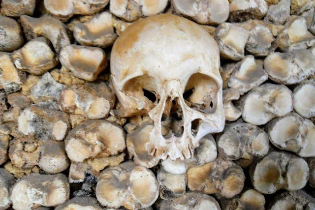 Things to do in Portugal in December: Visit the Chapel of the Bones in Faro