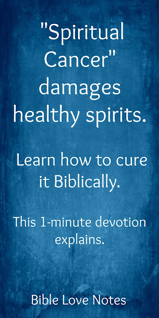 """Identifying and curing """"Spiritual Cancer"""""""