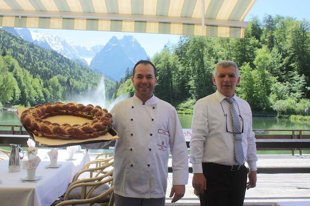 Laugenringe, Kaffee und Kuchen auf der Seeterrasse, Seehaus am Riessersee Hotel Garmisch-Partenkirchen, Bayern, #Hochzeit #Bayern #Riessersee #wedding Bavaria